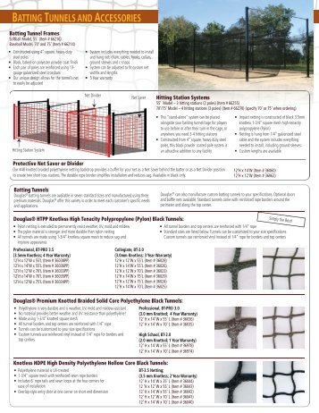 Batting Tunnels - Douglas Sports Nets and Equipment