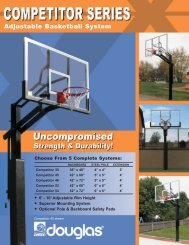 Adjustable Basketball System - Douglas Sports Nets and Equipment
