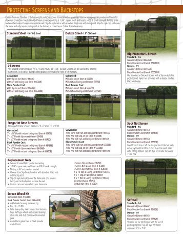 Protective Screens - Douglas Sports Nets and Equipment