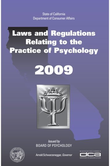Laws and Regulations Relating to the Practices of ... - CE-credit.com