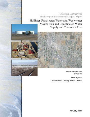 Hollister Urban Area Water and Wastewater Master Plan and ...