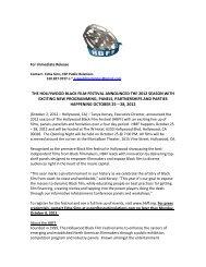 the hollywood black film festival announced the 2012 season