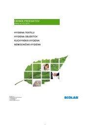 Cenník Ecolab 2013 - Klimatechnik