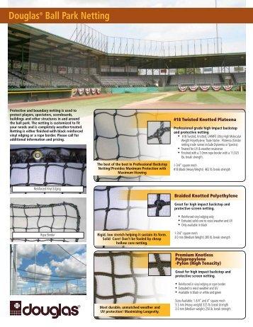 Douglas® Ball Park Netting - Douglas Sports Nets and Equipment