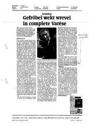 Page 1 Publicatie Datum Pagina : Trouw : 15-06-2009 Oplage ...