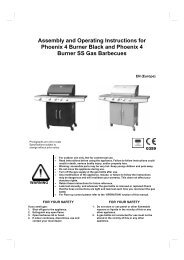 Assembly and Operating Instructions for Phoenix 4 Burner Black and ...