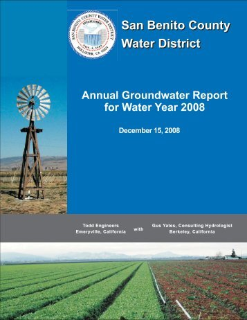 San Benito County Water District San Benito County Water District