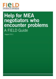 Help for MEA negotiators who encounter problems - Foundation for ...