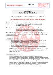 ExKalk 2in1 Kalkentferner & Entkalker - Bindulin