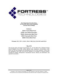 Non-Proprietary Security Policy for the FIPS 140-2 Level 2 ... - NIST