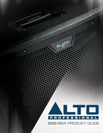 New Product Guide - Alto Professional