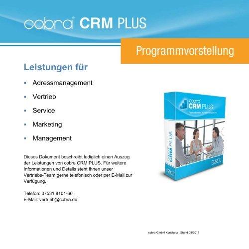 Vorstellung CRM PLUS - media-service consulting & solutions GmbH