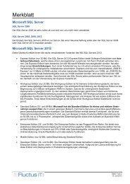 Microsoft SQL Server - Fluctus IT GmbH