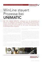 WinLine steuert Prozesse bei UNIMATIC - Fluctus IT GmbH