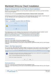 Merkblatt WinLine Client Installation - Fluctus IT GmbH