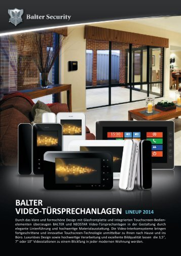 BALTER VIDEO-TÜRSPRECHANLAGEN LINEUP 2012