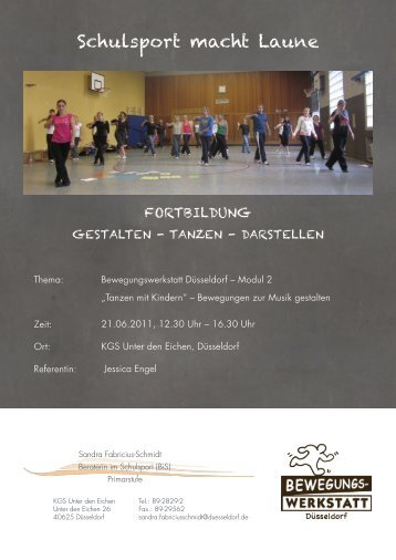 Fortbildung Gestalten-Tanzen-Darstellen - bewegungswerkstatt ...