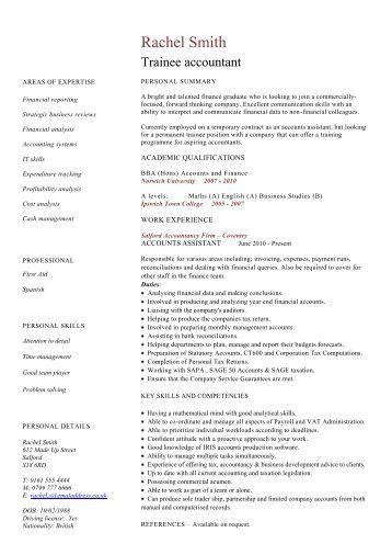 Beautiful Trainee Accountant Resume In Kent Ideas - Best Resume ...