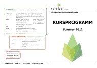 "KURSPROGRAMM Sommer 2012 - ""Serlas"" S-chanf"