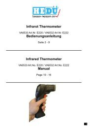 Infrared Thermometer Manual Infrarot Thermometer ...