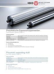 Pneumatische Expansionsspannwellen Pneumatic expanding shaft