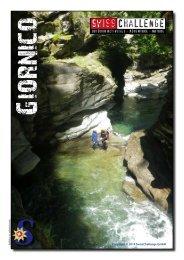 Flyer Canyoning Giornico Tessin - SwissChallenge GmbH
