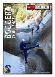 Flyer Canyoning Boggera Challenge Tessin - SwissChallenge GmbH