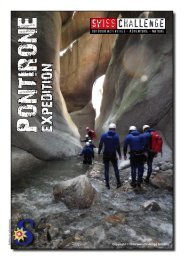 Flyer Canyoning Pontirone Expedition Tessin - SwissChallenge GmbH