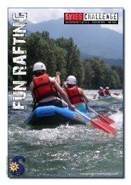 Flyer Fun-Rafting Ticino Tessin - SwissChallenge GmbH