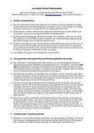 ALLGEMEINE GESCHÄFTSBEDINGUNGEN - Printfinder