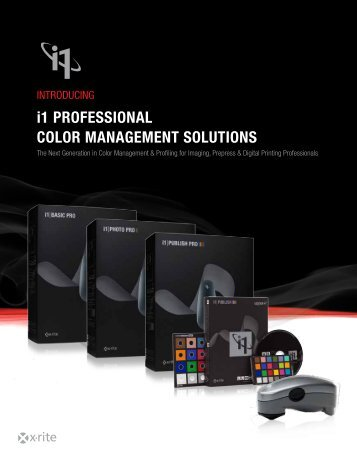 i1 Professional Color ManageMent solutions - TAVIJA