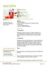 Erdbeersirup - Rezeptwiese