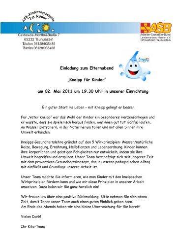 einladung elternabend m344rz11), Einladung