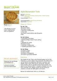 Apfel-Bienenstich-Torte - Rezeptwiese