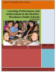 2009-2010 Activities Report - Hewlett-Woodmere Public Schools
