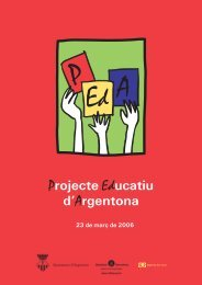 Projecte Educatiu d'Argentona - Ajuntament d'Argentona