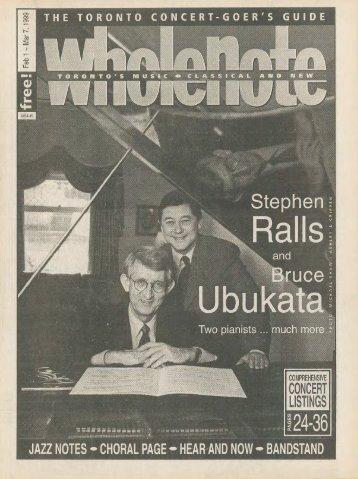 Volume 4 Issue 5 - February 1999
