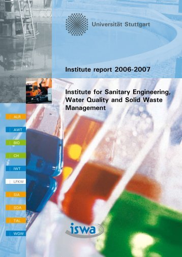 Institute for Sanitary Engineering, Water Quality and Solid Waste ...