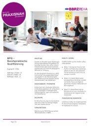 BPQ – Berufspraktische Qualifizierung - BBRZ Gruppe