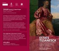 ESTATE TIZIANESCA - Fondazione Centro Studi Tiziano e Cadore