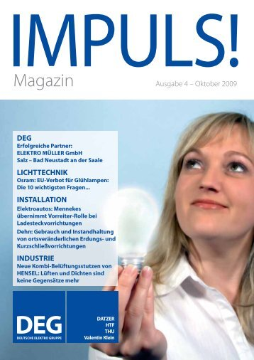 IMPULS! Ausgabe 4 - Oktober 2009 - Deutsche Elektro Gruppe