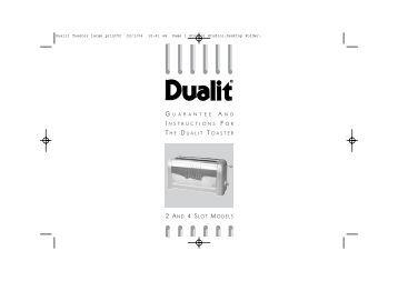 dualit toaster instruction manual