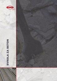 Katalog svrdla za beton