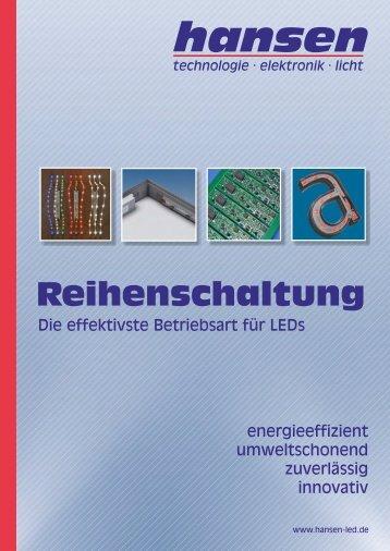 Reihenschaltung - die effektivste Betriebsart für LEDs - Hansen-LED