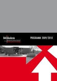 Programm 2009/2010 Bau akademie - Landesinnung Bau