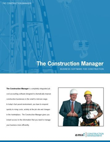 The Construction Manager - Amsi.com