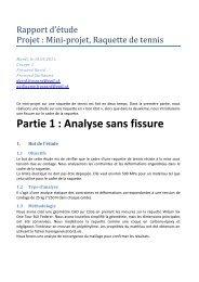 Partie 1 : Analyse sans fissure - EPFL
