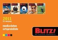 BLITZ! Mediadaten 2011 - Ortspreisliste
