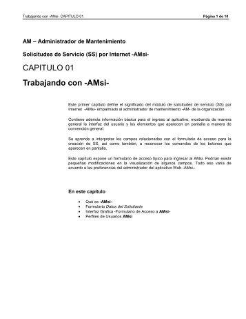 CAP 1 AMsi - Trabajando con AMsi - WIN  Software Asociados