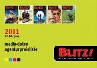 BLITZ! Mediadaten 2011 - Agenturpreisliste